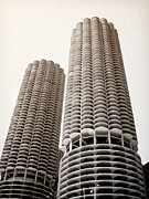 Julie Palencia Prints - Marina City Chicago Print by Julie Palencia