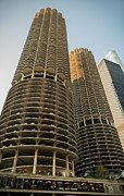 Marina Metal Prints - Marina City Chicago Metal Print by Steve Gadomski
