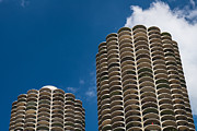 Marina Posters - Marina City Morning Poster by Steve Gadomski