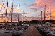 Marina In Desenzano Del Garda Sunrise Print by Kiril Stanchev