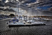 Yacht Mixed Media Metal Prints - Marina In The Fall 3 Metal Print by Todd and candice Dailey