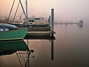 Boaters Prints - Marina Morning Print by Laura Ragland