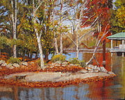 Lake Wylie Prints - Marina Point Print by Shirley Braithwaite Hunt
