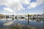 Burrard Inlet Posters - Marina Reflection at Granville Island Vancouver BC Poster by JPLDesigns