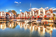 Christchurch Framed Prints - Marina Reflections  Framed Print by Rob Hawkins