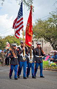 Nola Photo Posters - Marine Color Guard Poster by Steve Harrington