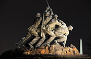 Iwo Jima Monument Framed Prints - Marine Corps War - Iwo Jima -  Memorial Framed Print by Gary Whitton