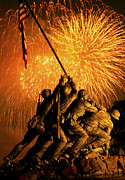 4th Of July Prints - Marine Corps War Memorial Print by Government Photographer
