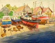 Vic Delnore - Marine Railway at Urk