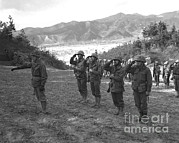 Korean War Photos - Marines Of The 5th Marine Regiment by Stocktrek Images
