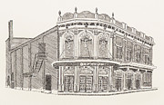 Theater Drawings - Marion Orpheum Theater 1923 by Shawn Vincelette