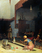 Greek Artists - Marionettes in the Harem by Theodoros Rallis