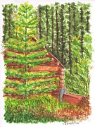 National Park Paintings - Maripos-Grove-Museum-Yosemite-National-Park-CA by Carlos G Groppa