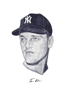 Yankees Painting Prints - Maris Print by Tamir Barkan