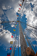 Boat Framed Prints - Maritime Signal Flags Framed Print by Bill  Wakeley