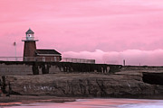 Paul Topp Art - Mark Abbot Memorial Lighthouse in Santa Cruz CA by Paul Topp