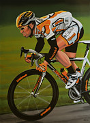 Sprinter Painting Posters - Mark Cavendish Poster by Paul Meijering