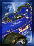Indy Car Framed Prints - Mark Donohue 1972 Indy 500 Winning Car Framed Print by Blake Richards