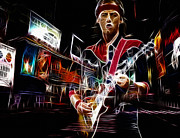 British Music Art Posters - Mark Knopfler Poster by Stefan Kuhn
