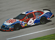 Tire Drawings - Mark Martin AAA Ford by Paul Kuras