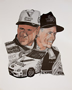 Baseball Uniform Drawings - Mark Martin race car driver by Joe Lisowski