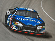 Tire Drawings - Mark Martin Viagra Ford by Paul Kuras