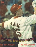 Mcgwire Prints - mark mcgwire breaking HR record Print by Pat Mchale