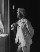 Huckleberry Photos - MARK TWAIN c. 1907 by Daniel Hagerman