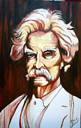 Huckleberry Finn Framed Prints - Mark Twain Framed Print by Mark SWAIN
