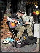 Strumming Prints - Market Busker 5 Print by Tim Allen