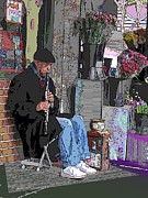 Manipulation Framed Prints - Market Busker 9 Framed Print by Tim Allen