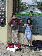 Fiddle Digital Art - Market Buskers 2 by Tim Allen