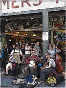 Washboard Prints - Market Buskers 3 Print by Tim Allen