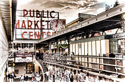 City Center Prints - Market Center Print by Spencer McDonald