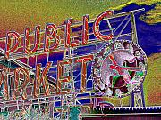 Place Digital Art - Market Clock 1 by Tim Allen