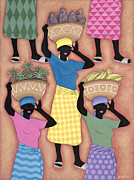 Female Worker Prints - Market Day Print by Sarah Porter