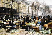 Paris Digital Art Prints - Market Day Print by Victor Gabriel Gilbert