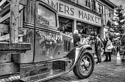 Spencer Mcdonald Framed Prints - Market Delivery Truck Framed Print by Spencer McDonald
