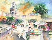 Lanzarote Paintings - Market in Teguise in Lanzarote 07 by Miki De Goodaboom