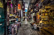 Jerusalem Photos - Market in the Old City of Jerusalem by David Morefield