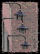 Post Alley Framed Prints - Market Lights Framed Print by Tim Allen