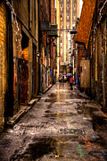 City Buildings Posters - Market Square Alleyway - Knoxville Tennessee Poster by David Patterson