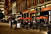 Shoppers Prints - Market Square - Knoxville Tennessee Print by David Patterson
