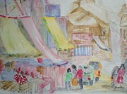 Stalls Paintings - Market Stall by Judi Goodwin