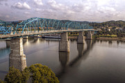 Chattanooga Tn Framed Prints - Market Street Bridge Framed Print by Gregory Cook
