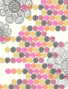 Pink Flower Prints - Market Tiles Print by Khristian Howell