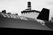 Manhatan Prints - markings on a Lockheed A12 Blackbird on the flight deck of the USS Intrepid  Print by Joe Fox