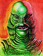 Mixed Media Mixed Media - Marks Creature from the Black Lagoon by David Shumate