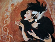 Movie Star Painting Originals - Marlena Dietrich by Shirl Theis
