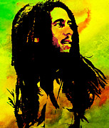 Jamaica Mixed Media Posters - Marley Poster by Elaine Manley